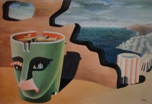 Ricas, Sogno a Capri, tempera su cartone, 60x40, 1938